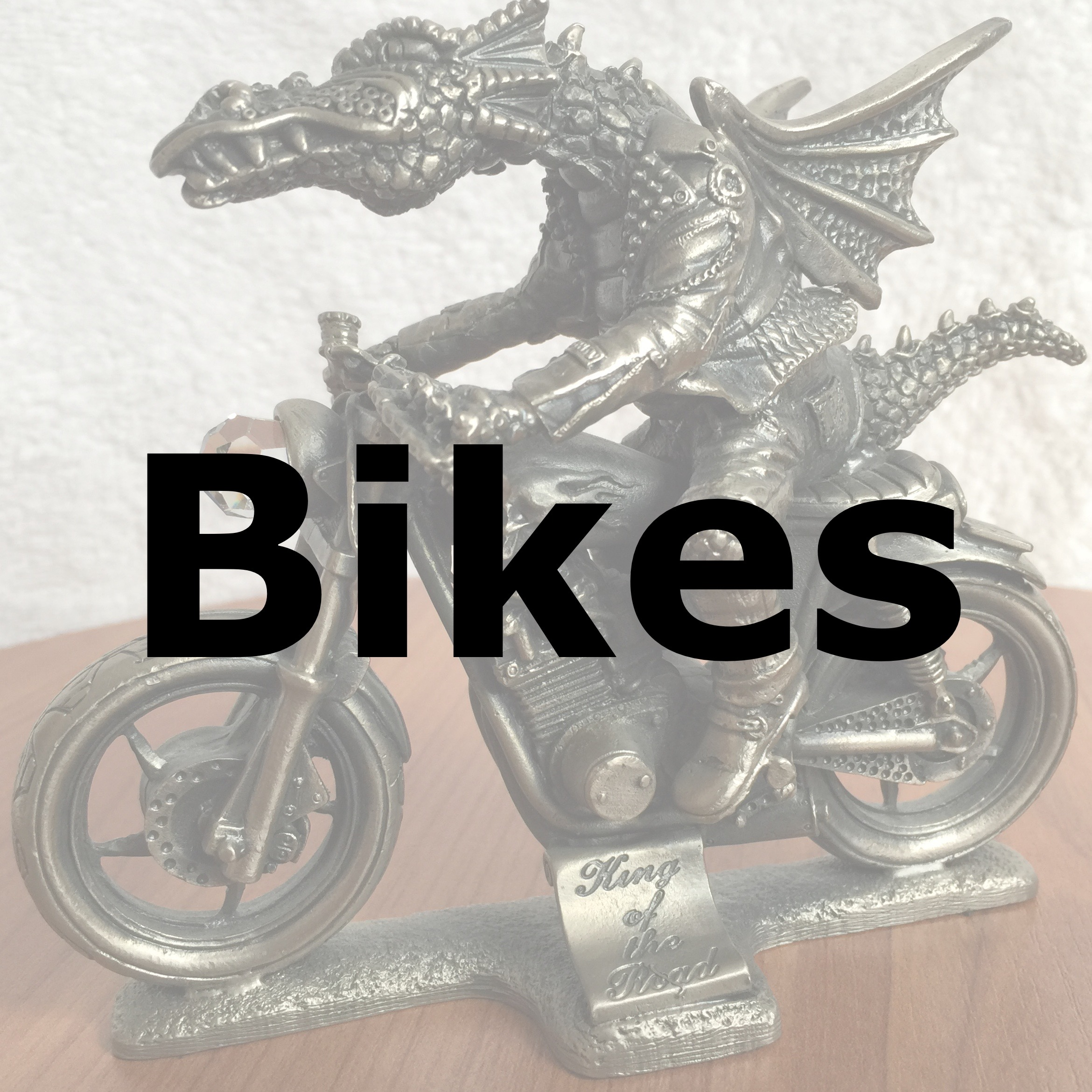 Image of a dragon on a motorbike